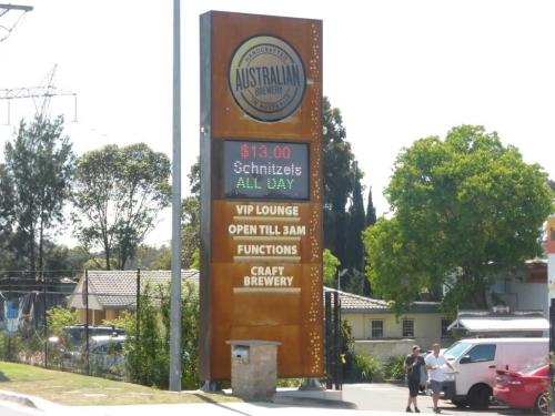 Electronic Digital LED Sign Australian Brewery