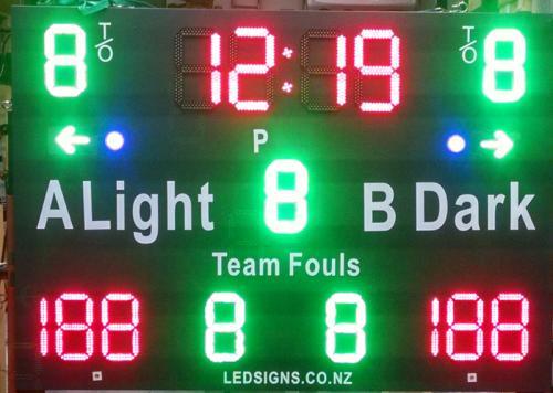 Basketball Scoreboard Cropped