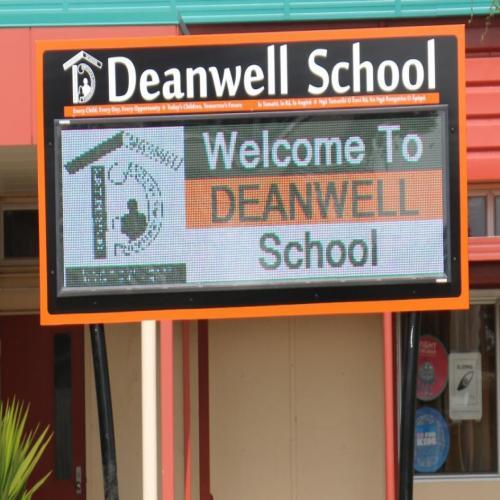 Electronic Digital LED Sign Deanwell School