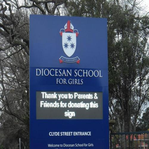 Electronic Digital LED Sign Diocesan School