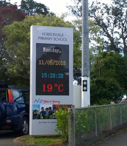 Electronic Digital LED Sign Hobsonville Primary School
