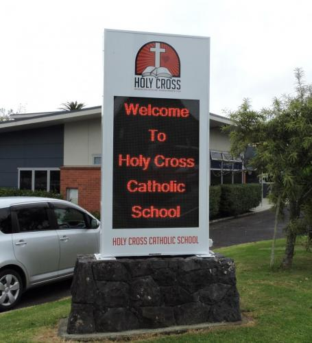 Electronic Digital LED Sign Holy Cross School