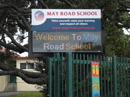 Electronic Digital LED Sign May Road School