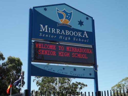 Electronic Digital LED Sign Mirrabooka School