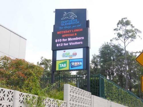 Electronic Digital LED Sign Panthers Glenbrook