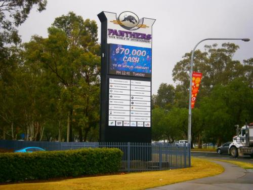 Electronic Digital LED Sign Panthers Club