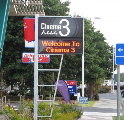 Electronic Digital LED Sign Pukekohe Cinema 3.