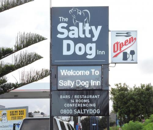 Electronic Digital LED Sign Salty Dog Inn