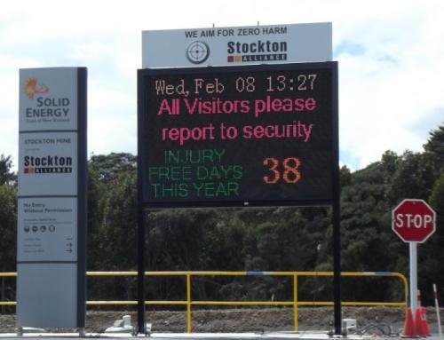Electronic Digital LED Sign Stockton Mine