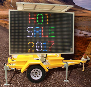 Electronic Digital LED Moving Message Sign Trailer Sign