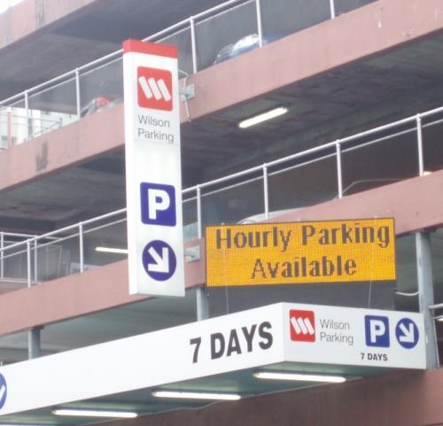 Electronic Digital LED Sign Wilson Carparking