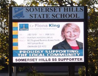 Electronic Digital LED Sign Sommerset Hills State School
