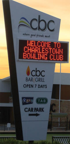 Electronic Digital LED Sign Charlestown Bowling Club