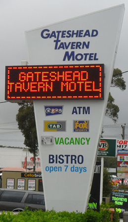 Electronic Digital LED Sign Gateshead Tavern