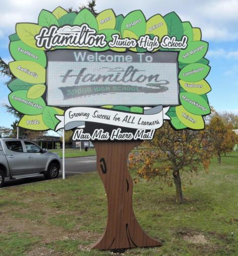Electronic Digital LED Sign Hamilton Junior High School