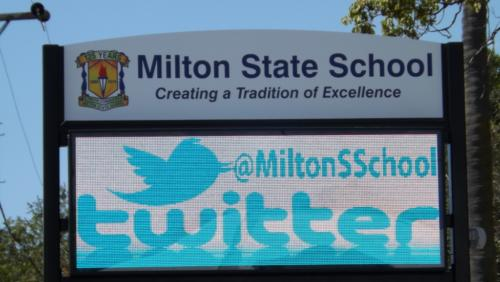 Electronic Digital LED Sign Milton State School