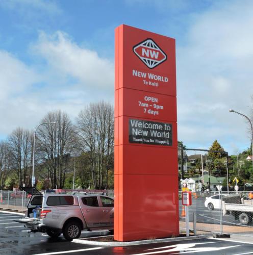 Electronic Digital LED Sign New World Supermarket