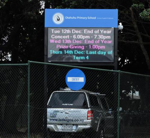 Electronic Digital LED Sign at Otahuhu Primary School