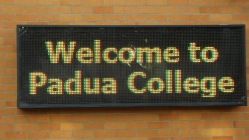 Electronic Digital LED Sign Padua College