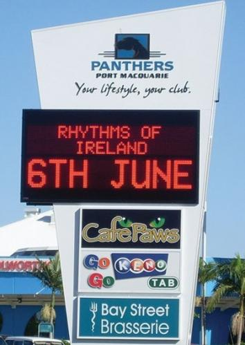 Electronic Digital LED Sign Panthers