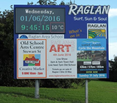 Electronic Digital LED Sign Raglan Area School