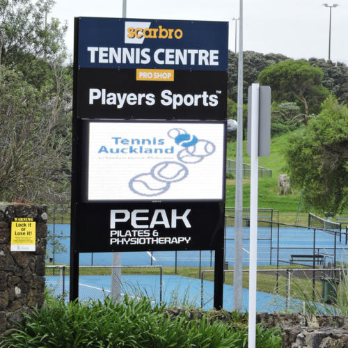 Electronic Digital LED Sign Scarbro Auckland Tennis Centre