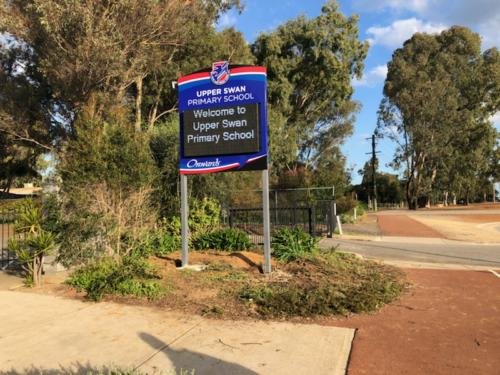 Electronic Digital LED Sign at Upper Swan Primary School