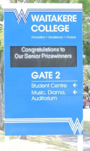 Electronic Digital LED Sign Waitakere College