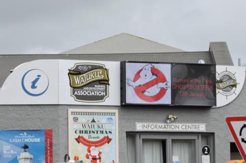 Electronic Digital LED Sign Waiuku Tourist Information Centre