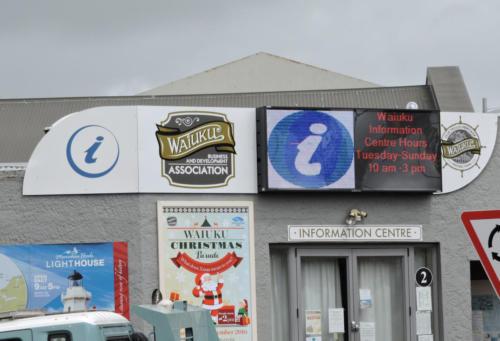 Electronic Digital LED Sign Waiuku Business Association