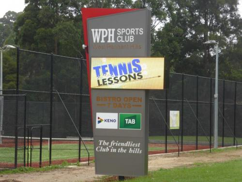 Electronic Digital LED Sign West Pennant Hills Tennis Club
