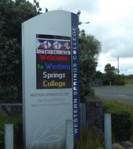 Electronic Digital LED Sign Western Springs College