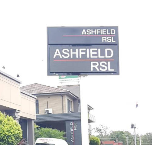 Electronic Digital LED Sign Ashfield RSL