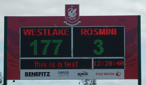 Cricket Electronic Scoreboard - Westalke Boys