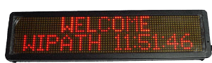 Alphanumeric Indoor LED Sign