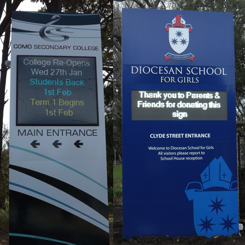 LED Signs for Schools - Pylon Style
