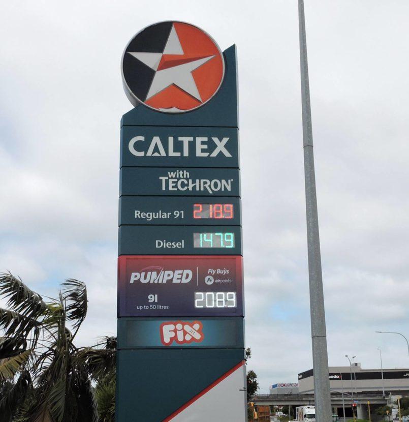 Caltex Fuel Price Tiles Mt Wellington