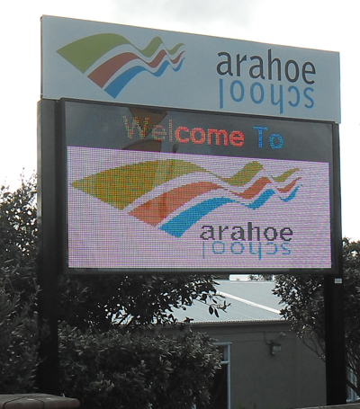 Electronic Digital LED Sign Arahoe School