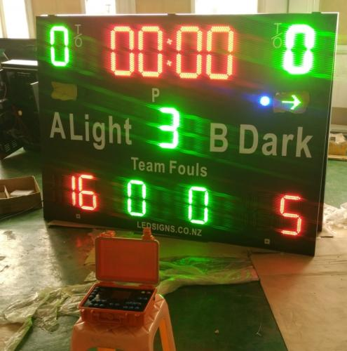 Electronic Basketball Scoreboard