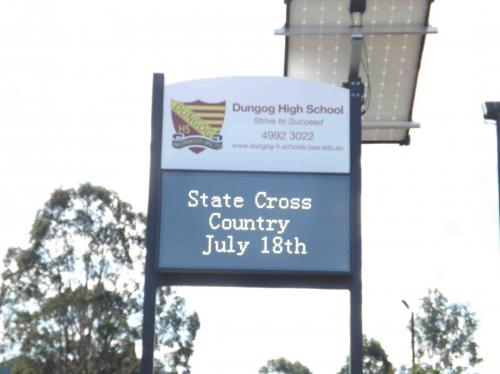 Electronic Digital LED Sign Dungog High School