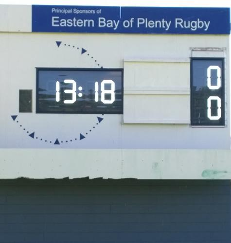 Eastern Bay of Plenty Rugby Electronic Scoreboard