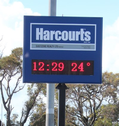 Electronic Digital LED Sign Harcourts Pakuranga