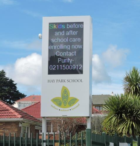 Electronic Digital LED Sign Hay Park school
