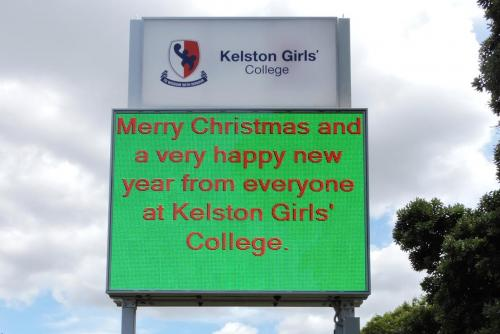 Electronic Digital LED Sign Kelston Xmas