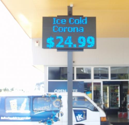 Electronic Digital LED Sign Liquor King Whangamata