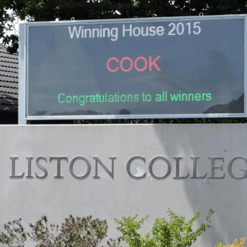 Electronic Digital LED Sign Liston College
