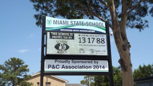 Electronic Digital LED Sign Miami State School