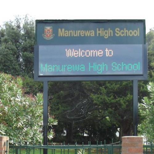 Electronic Digital LED Sign Manurewa High School