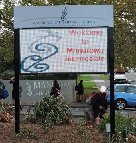 Electronic Digital LED Sign Manurewa Intermediate