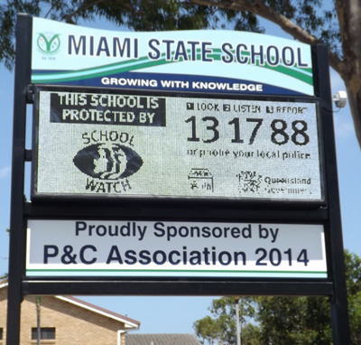 Electronic Digital LED Signage Miami State School